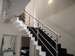 Stainless Steel Staircase Design Kerala Staircase Handrail Work Building Design 3d