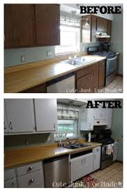 painting laminate kitchen cabinetsHow To Paint Laminate Cabinets Before After Almost Exactly Like My