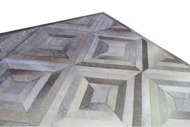 taupe and cream diamond patchwork cowhide rug no 302 9x9ft