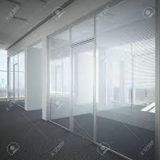 office door glass. Office Corridor Door Glass 3d Render Stock Photo - 22403498