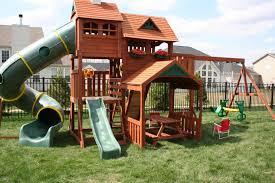 Big Backyard Playsets Kids Playsets For Backyard Big Backyard Lexington  Wood Gym Set