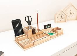 office bureau desk. Oak Wood Desk Organizer - Wooden Bureau Pen Holder Complete Table Office E