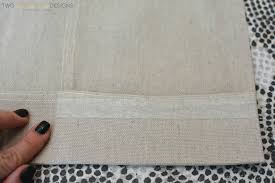 diy no sew painted curtain panels