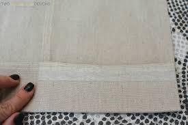 diy no sew painted curtain panels