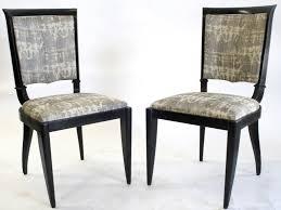 Furniture: Art Deco Dining Chairs Unique 1930 39 S French Art Deco Leleu  Dining Chairs