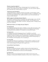 Example Of Good Resume Objective Examples Of Resumes