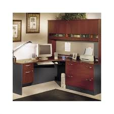 Business Office Design Amazing Bush Business LShaped Home Office Set With Hutch In Hansen Cherry