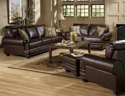 Bentleys Sofa Set In Rich Brown Leather By Homelegance - All leather sofa sets