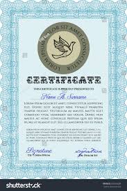 light blue diploma certificate template complex stock vector  light blue diploma or certificate template complex background vector illustration lovely design