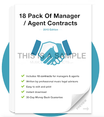 music management contract management contract template and contract management