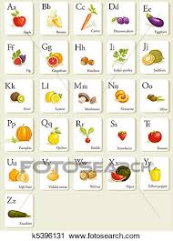 alphabet picture cards clipart of fruits and vegetables alphabet cards k5396131 search