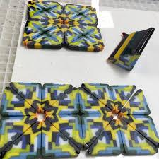 fused pattern bar slices