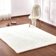 white solid faux fur area rug with suede backing white faux fur area rugs