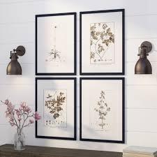 gracie oaks sepia tone botanical 4 piece framed graphic art set reviews wayfair on sepia bathroom wall art with gracie oaks sepia tone botanical 4 piece framed graphic art set