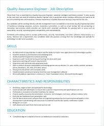 Quality Assurance Engineer Job Description Quality Assurance