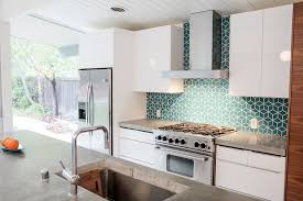 modern tile backsplash. Wonderful Modern Eichler Kitchen Remodel Fireclay Tiled Backsplash U2014 Mid Century Modern  Interior Designer  Portfolio Intended Tile S
