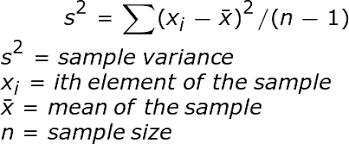 Variance Formula Sample Variance Definition Formula Example Study Com