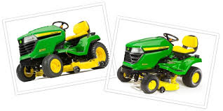 John Deere Equipment Comparison X300 And X500 Riding Lawn
