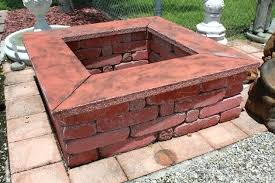 square paver patio with fire pit. Plain Patio Square Brick Fire Pit Stunning Outdoor Pits Concrete And Landscape  Materials Inside Square Paver Patio With Fire Pit