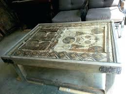 old door coffee table new diy