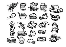 Printable Food Coloring Pages Table Food Coloring Pages To T Healthy