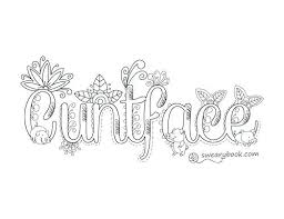 Free Printable Swear Word Coloring Pages Swear Coloring Pages Free