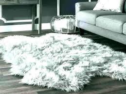 grey fluffy area rug plush gray faux sheepskin soft and cloud light rugs furniture