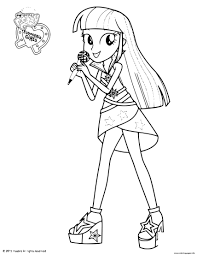 My little pony coloring page. My Little Pony Equestria Girls Twilight Coloring Pages Printable