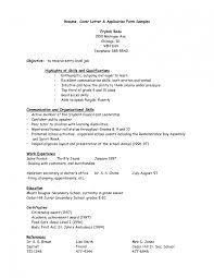 7 Sample Application Resume Agenda Example Job Cv Samples Pdf Letter