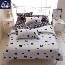 batman mask print bedding set cartoon style white color kids twin full queen size duvet cover