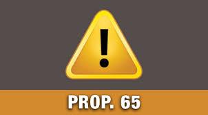 Image result for prop 65 warning