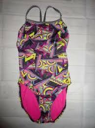 Dolfin Uglies Racerback Bathing Swimsuit Size 36 Swirl Wavy