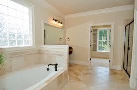 bathroom with half wall