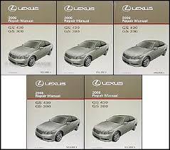 2006 lexus gs 300 430 wiring diagram manual original 2006 lexus gs 300 430 repair shop manual original 5 volume set 549 00