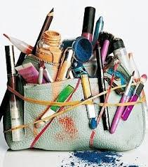 the makeup bag look for a duel cosmetic bag and brush set like the one below