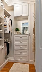 nice small walk in closet white chocolate textured