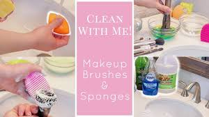 how i clean my makeup brushes sponges diy brush cleaner
