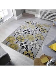 cocktail blossom tree grey ochre rugs