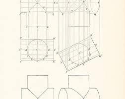 1885 technical drawing antique math geometric mechanical drafting interior design blueprint art ilration framing 100