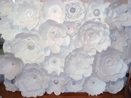 How To Make Paper Flower Backdrop Decor Diy Paper Flower Backdrop White 2210990 Weddbook