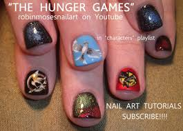 The Hunger Games Nails   Nail Art Design - YouTube