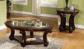 round dark wood coffee and end table sets round coffee tables