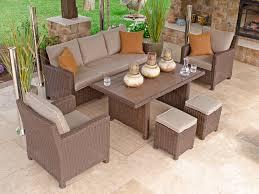 panama 6 pc aluminum resin wicker lounge dining set