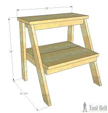 step ladder plans wood step stool plan build this simple for those hard to reach ladder