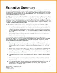 Executive Summary Sample For Proposal Executive Summary Template For Business Plan Sample Business