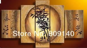 feng shui paintings for office. Free Shipping Bamboo Feng Shui Oil Painting Canva Fortune Decoration Home Office Hotel Wall Art Decor High Quality Handmade Gift Paintings For I
