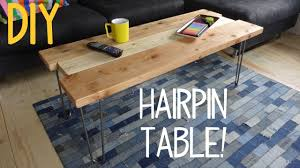 How to build a simple table Legs Youtube How To Build Simple Hairpin Table Youtube