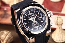 solid mens luxury watch v6 vogue gold case black rubber band sport solid mens luxury watch v6 vogue gold case black rubber band sport casual cuff men fashion