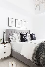 Best 25+ White grey bedrooms ideas on Pinterest | Grey and white comforter,  White tufted headboards and Grey tufted headboard