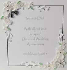 60th anniversary card personalised diamond wedding handmade gift Diamond Wedding Cards And Gifts 60th diamond wedding anniversary card by paperdaisycards on etsy Wedding Anniversary Gifts by Year
